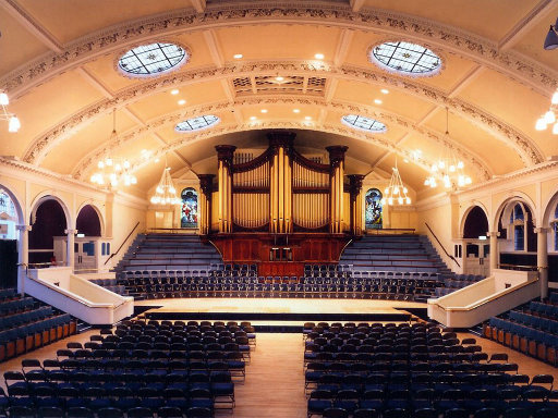 The Great Hall of the Albert Hall in Nottingham