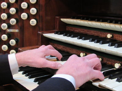 John Keys playing the Binns Organ